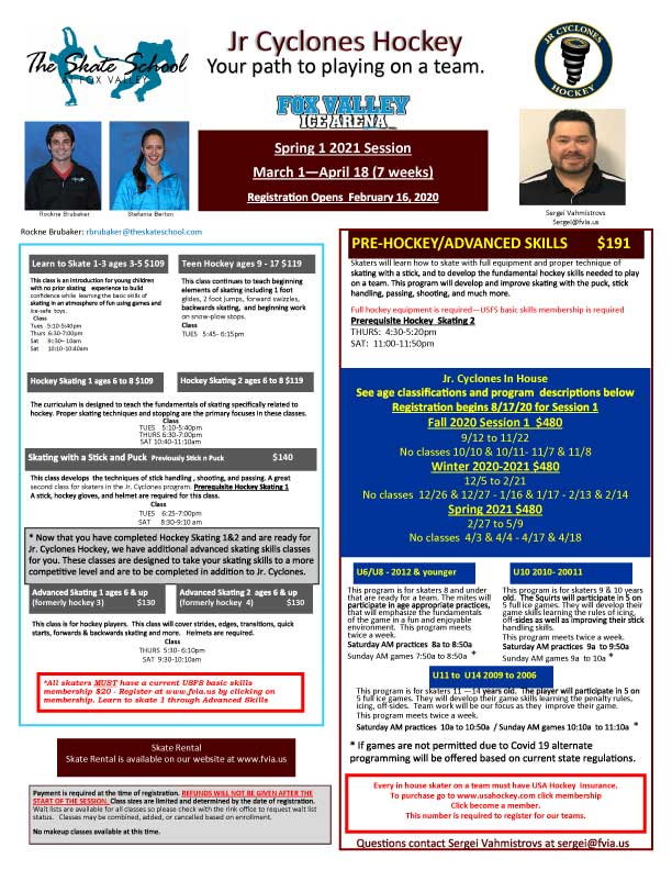 SS hockey schedule